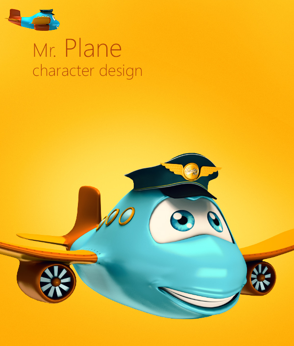 3d Character Design Behance : Mr plane d character design on behance