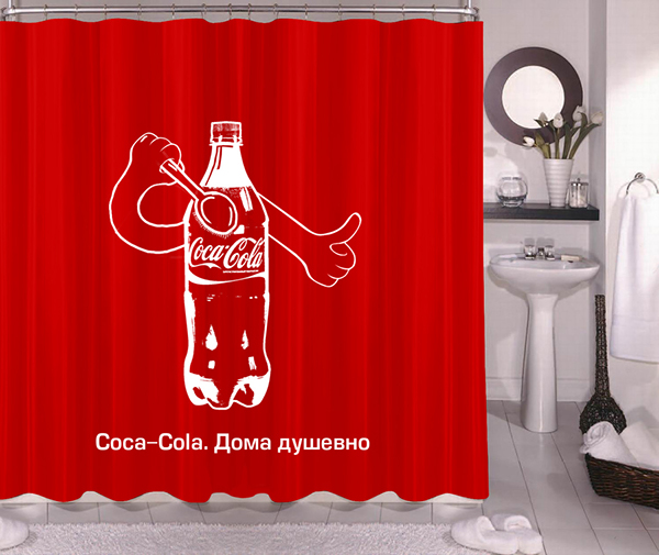 Curtains Ideas coca cola shower curtain : Coke at Home. Advertising Campaign. on Behance