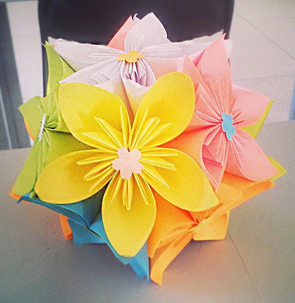 Origami Flower Ball On Student Show