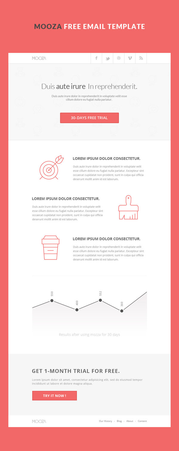 free email template on behance
