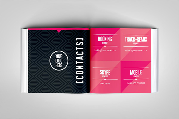 Dj And Musician Visual Press Kit / Resume Template On Behance