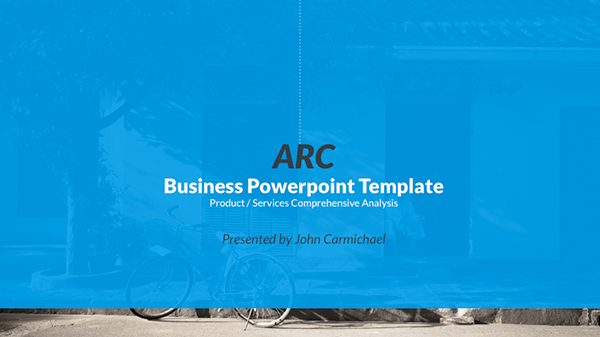 business powerpoint presentation template on behance, Presentation templates