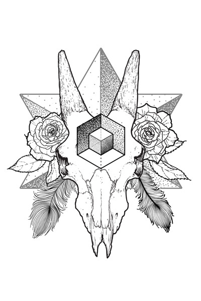 Geometric Line Drawing Tattoo : Collection of geometric line drawings on behance