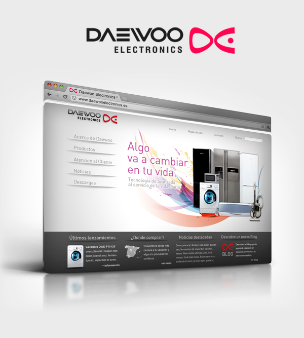 Daewoo Electronics Spain & Portugal - Web Site on Behance