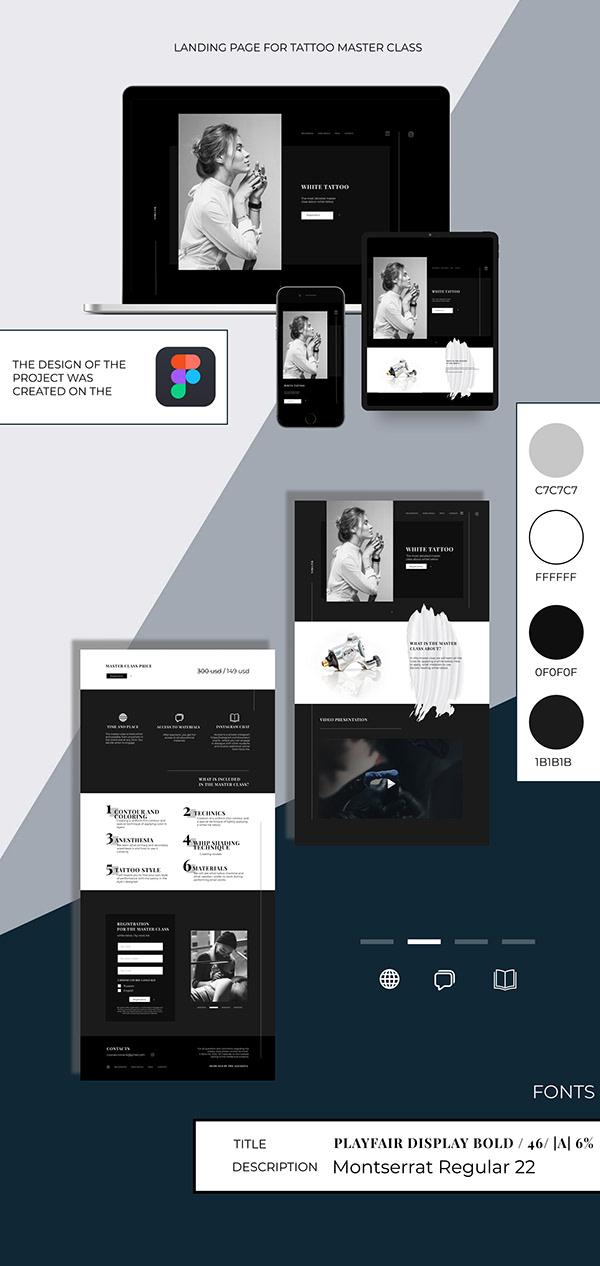 UI/UX / Web Design for tattoo master class