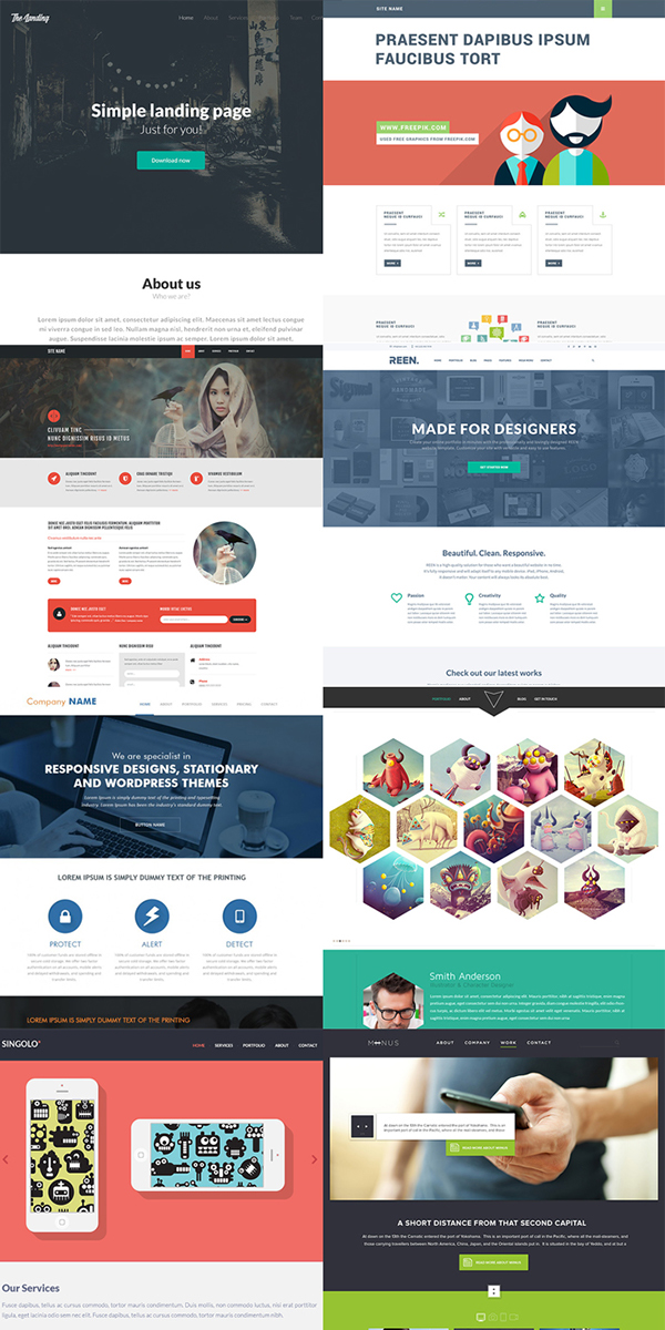 Free Download Latest Psd Website Templates On Behance
