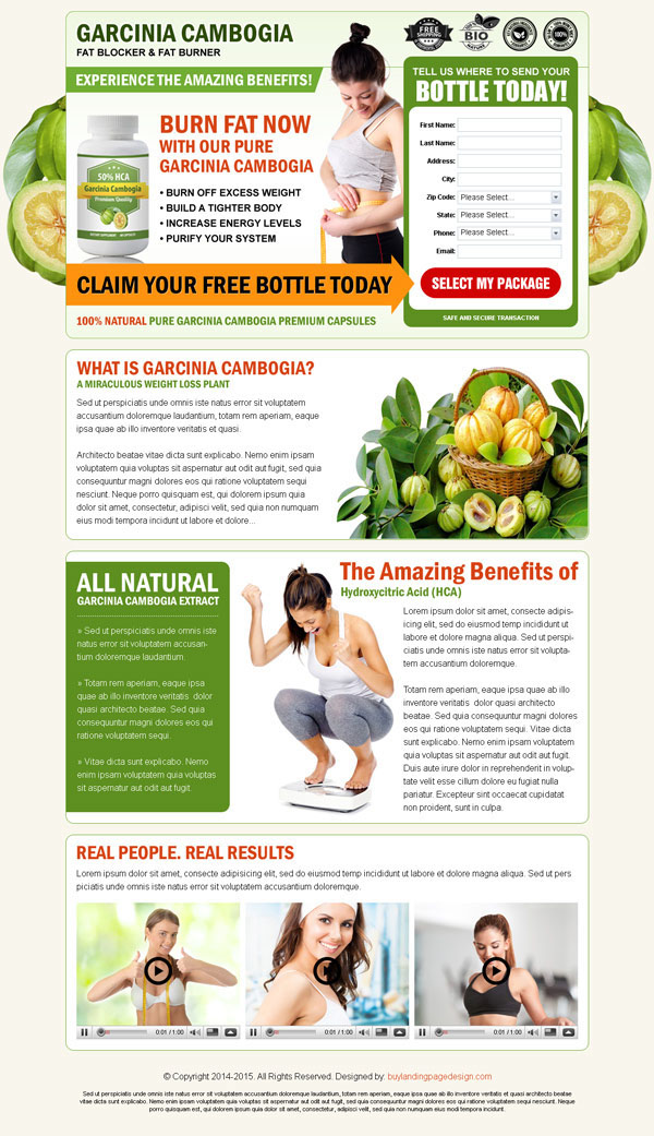 Best Garcinia Cambogia Landing Page Design Templates on Behance