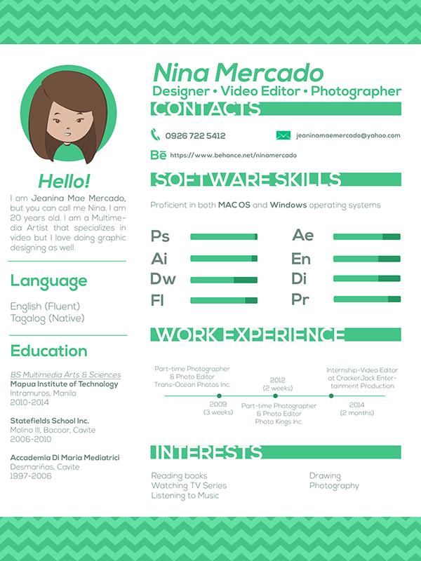new photographer resume