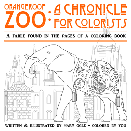 Orangeroof Zoo Coloring Book for Adults on Behance