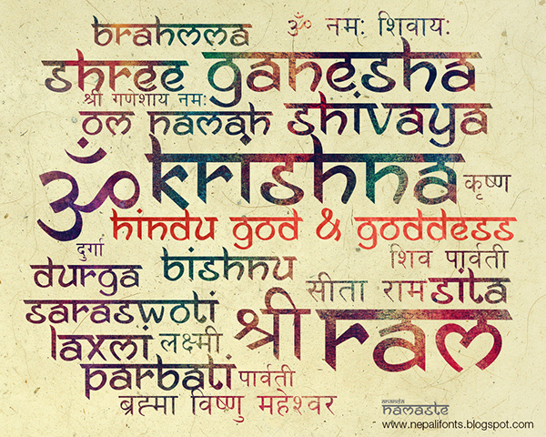The font is inspired by Nepali Devanagari Sanskrit script. This is the ...