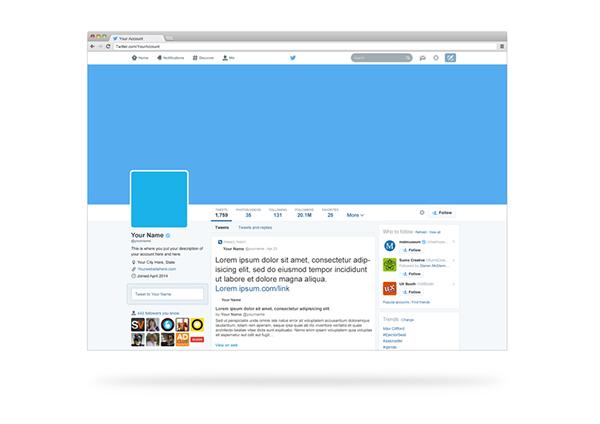 editable twitter template c ile web e hükmedin