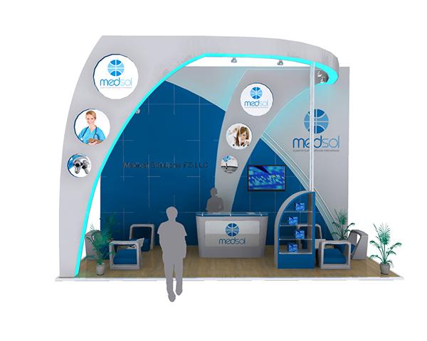Exhibition Stand Design Worcester : Medsol exhibition booth design on behance