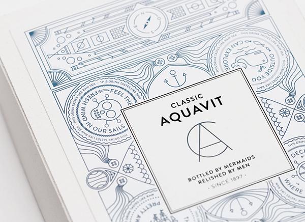 seafaring alcohol Label-Design