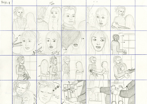 Storyboarding -Movie Storyboard - Edward Scissorhands On Behance