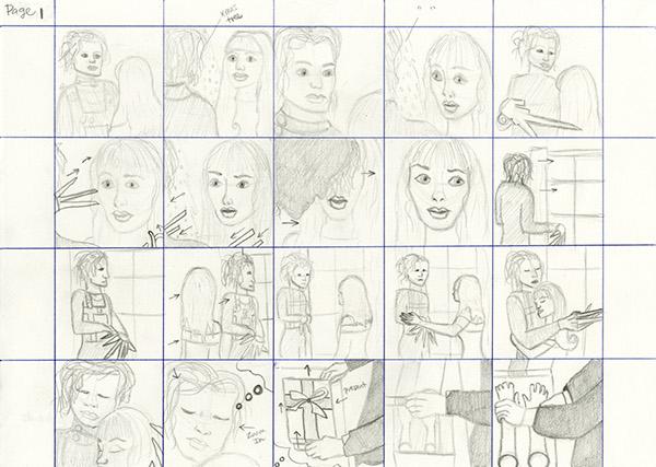 Storyboarding Movie Storyboard  Edward Scissorhands On Behance