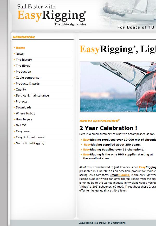 AramidRigging Webdesign HTML css jeroen rijpstra Van der Let & Partners Identity