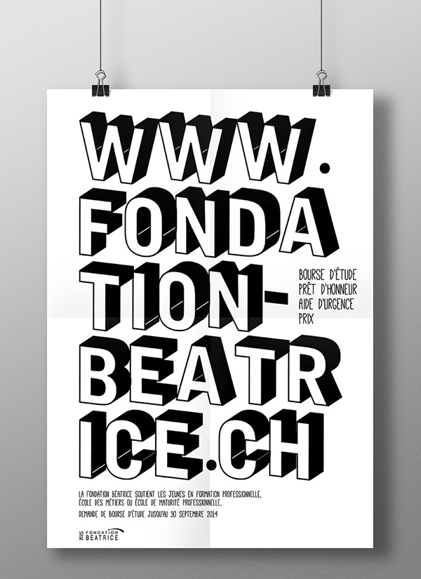 Fondation beatrice poster on behance for Poster et affiche
