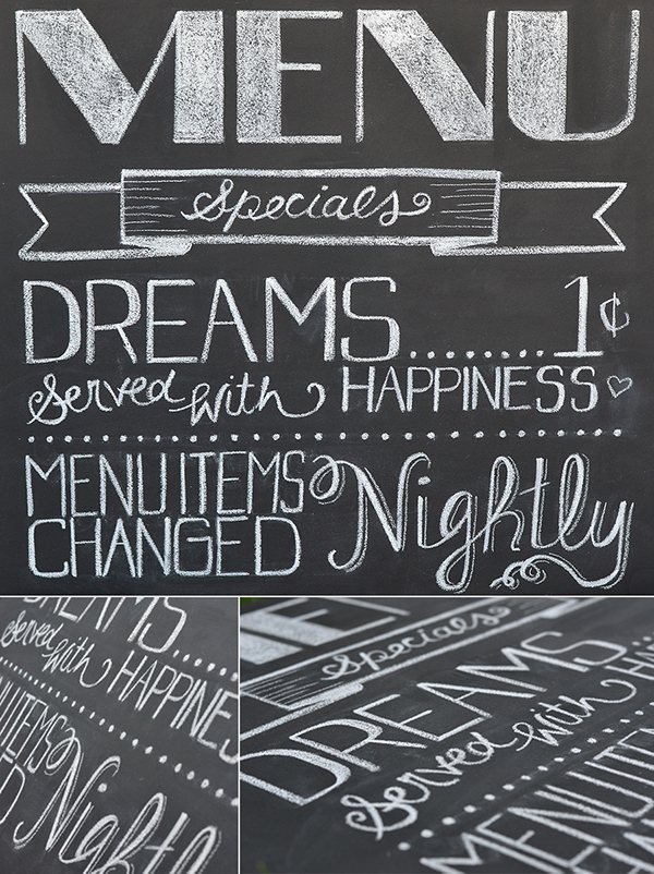 Nightly Specials Chalkboard Menu on Behance