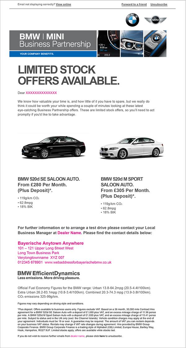 BMW Dealer Assets on Behance