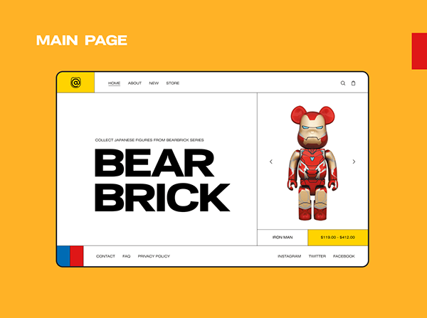 BEARBRICK Online store