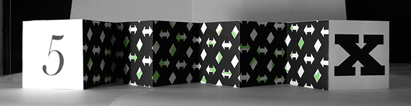 accordion book typographic experimentation Typographic History Form book making Hand made book print S.C. south carolina usc aiga Student work Book Arts rockwell Baskerville University of South carolina