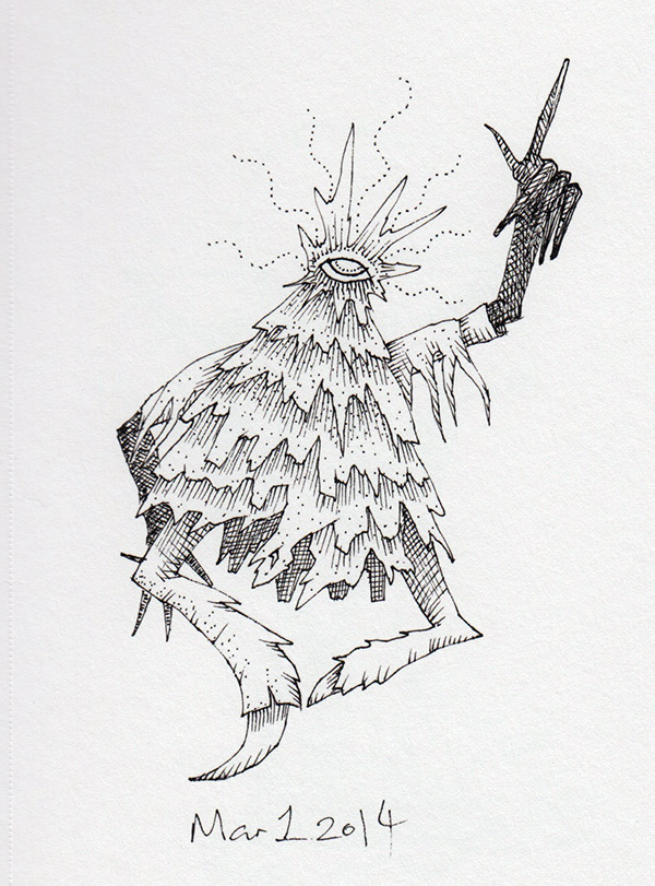 ink paper demon monster doodle daily