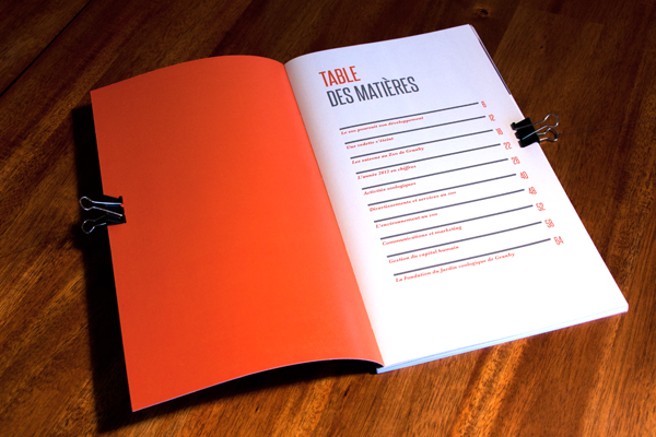 Layout Design annual report zoo