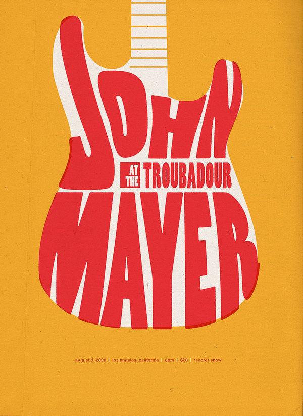 John Mayer Tour Poster