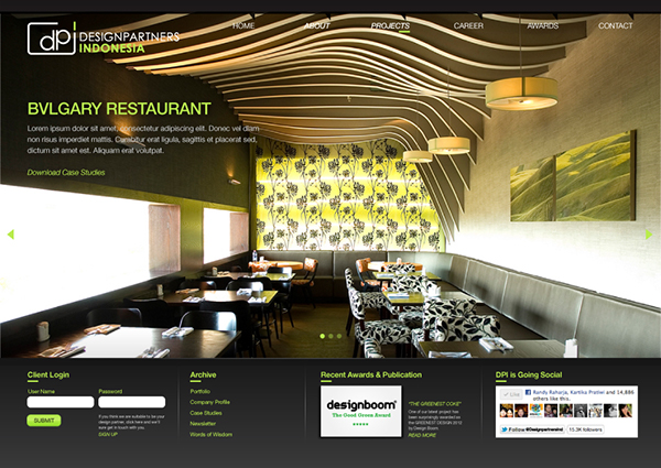 Interior indonesia designpartners partners green lime bulb lines