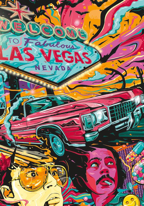 Fear /& Loathing in Las Vegas Movie Poster Art