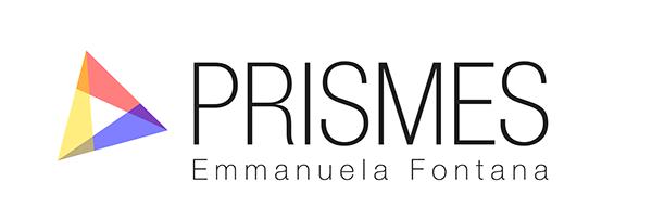 Prismes graphic design Web services ID geometry minimal logo Logotype