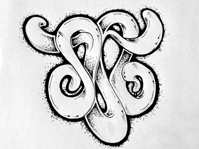 lettering ornate typography