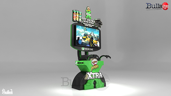 Expo Exhibition Stands Xbox : Pringles xtra xbox gaming stand on behance