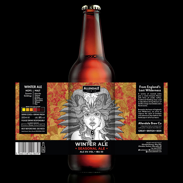 Craft Beer Label for Allendale Brewery