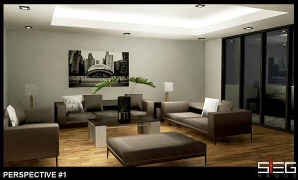 sample living room on behance