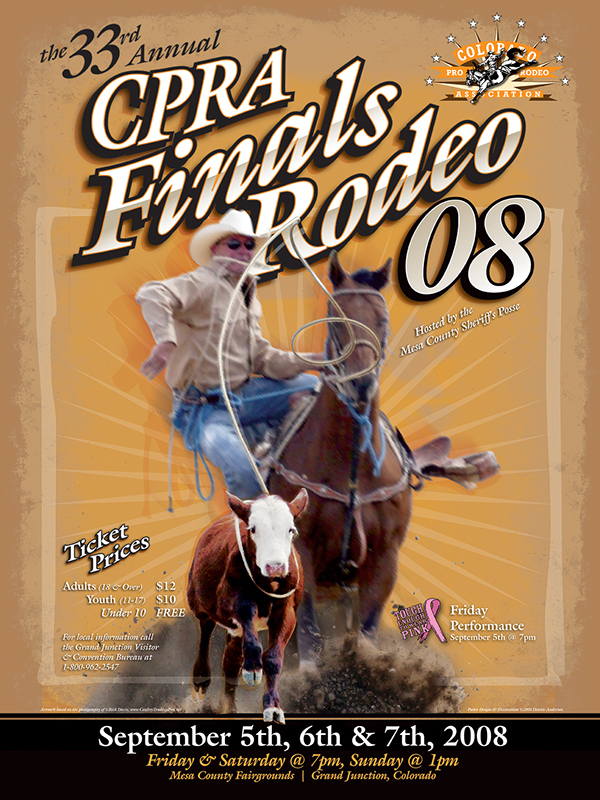 Colorado Pro Rodeo Association Posters On Behance