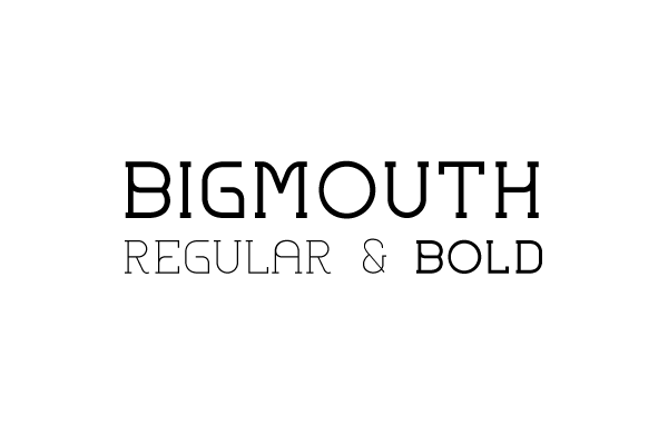 Bigmouth free font