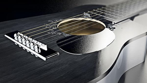 Acoustic guitar CGI