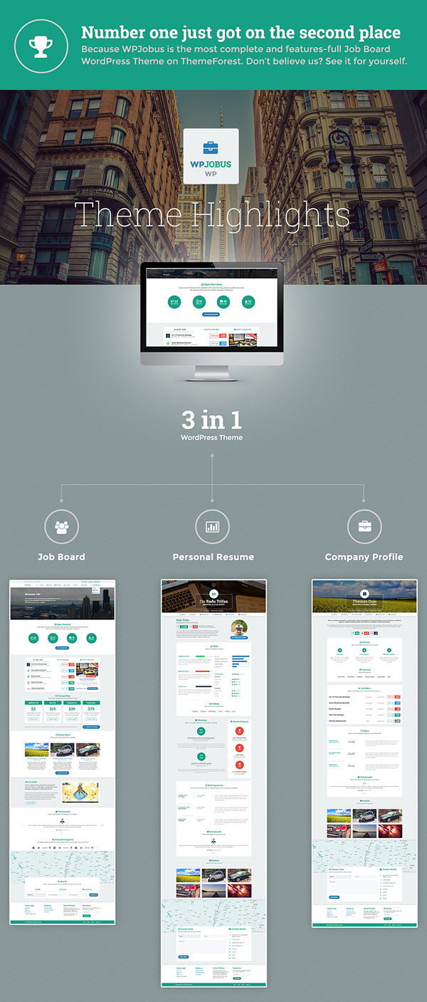 jobboard - responsive job & resume market wordpress theme free download