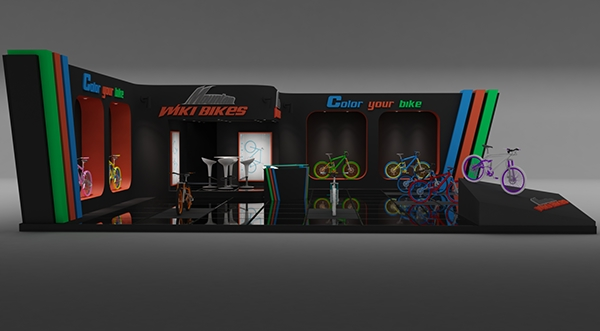 Exhibition Stand Wiki : Wiki bikes exhibition stand made in d max vray on behance