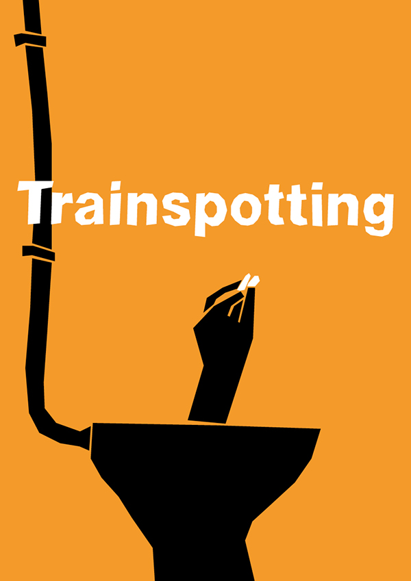 minimalist saul bass influenced movie posters on behance