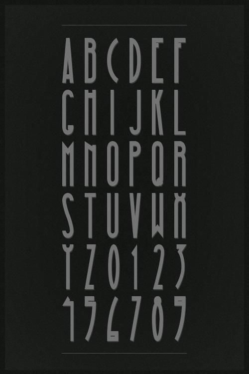 Moinzek free magna font vintage