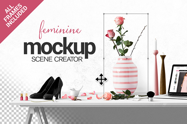 Feminine Scene Creator + Frame pack on Behance