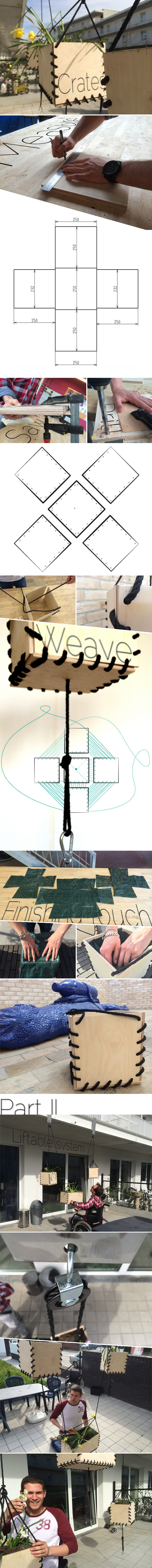 Liftable wheelchair garden planters modular ergonomic gardening hanging
