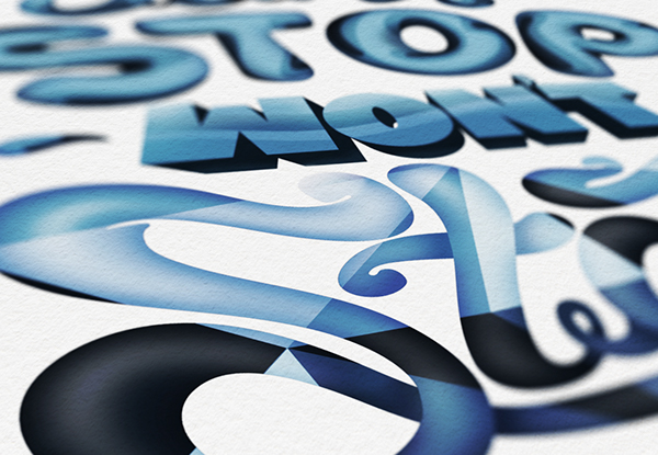 illustration typography Handstyle