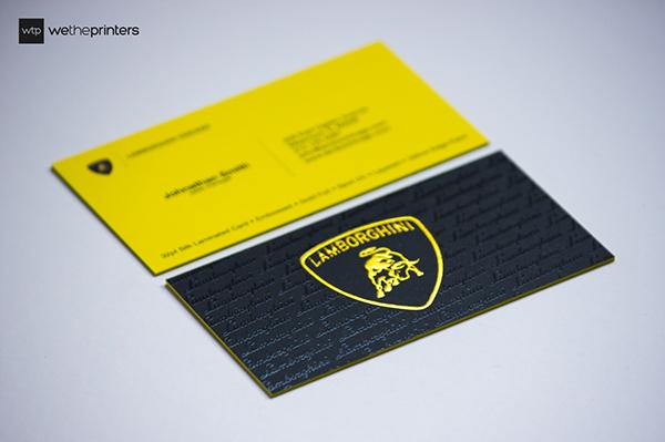 Yellow Lamborghini Business Card On Behance