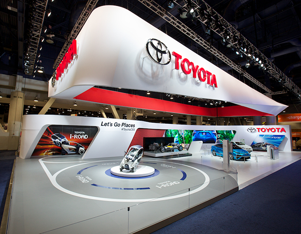 D Models Collection Exhibition Amp Event : Toyota at the international ces on behance