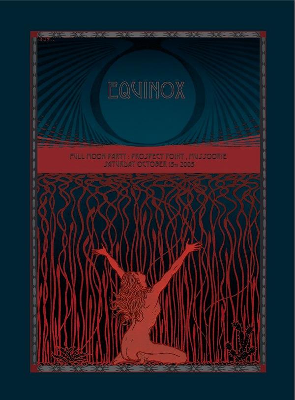 logo  invite  invitation  party  Full Moon  equinox  branding