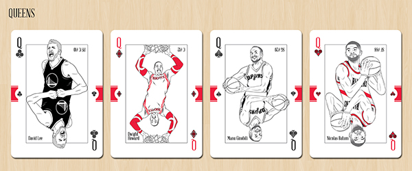 37f90824971 NBA Western Conference Playing Cards on Behance