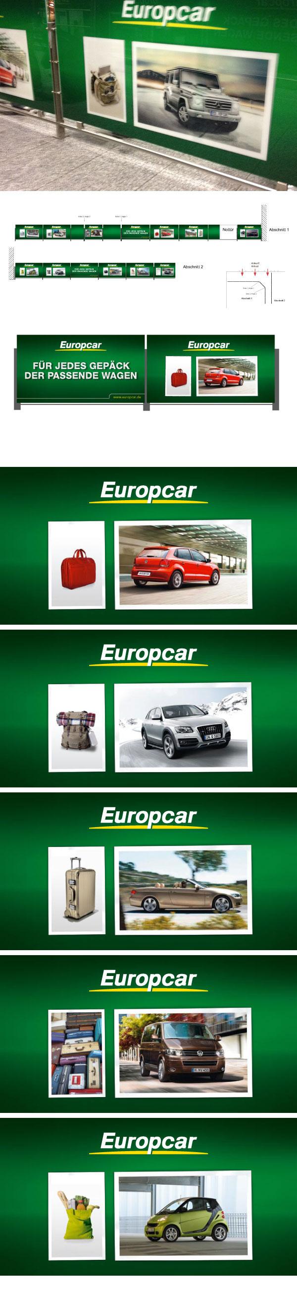Europcar Welcome Branding Frankfurt Advertising On Behance
